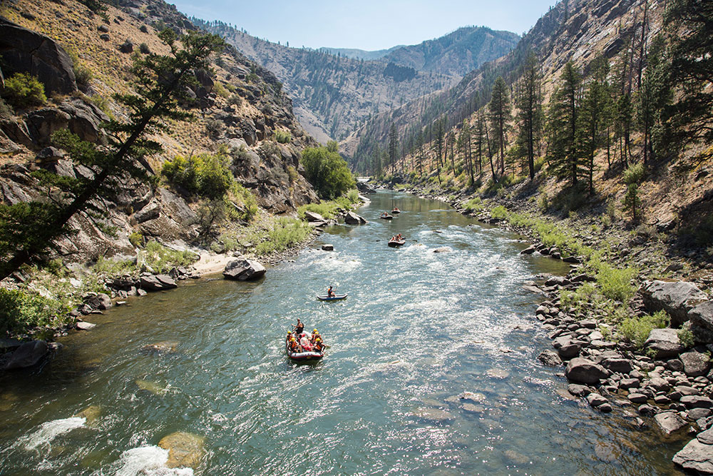 Floating on the middle fork