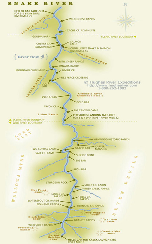 Snake River / Hells Canyon Map