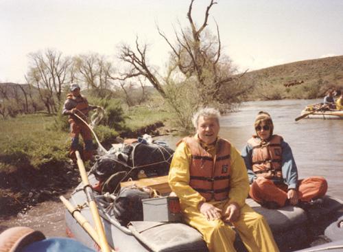 Carole rafting