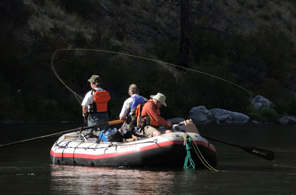 Fishing boat on the salmon river