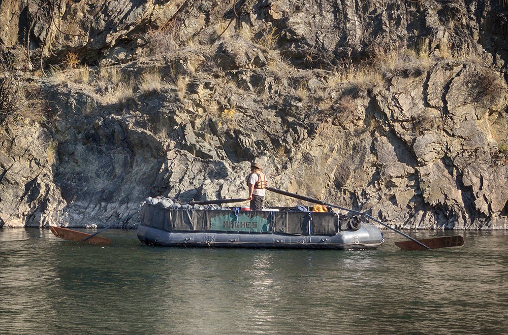 Gear boat on the salmon river