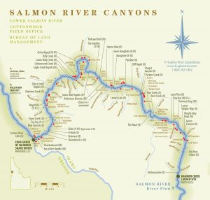 Salmon River Canyons Map - Hughes River Expeditions