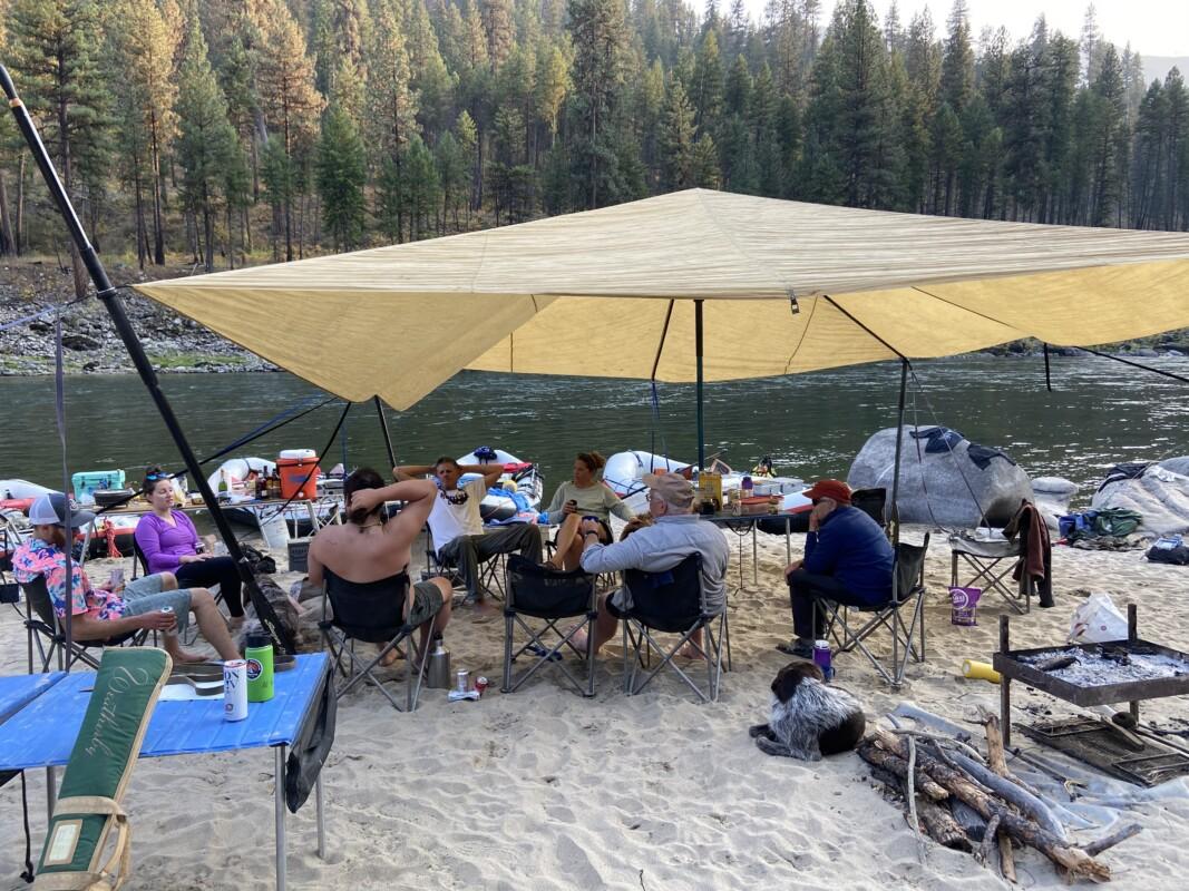 camp set up main salmon Jim moores