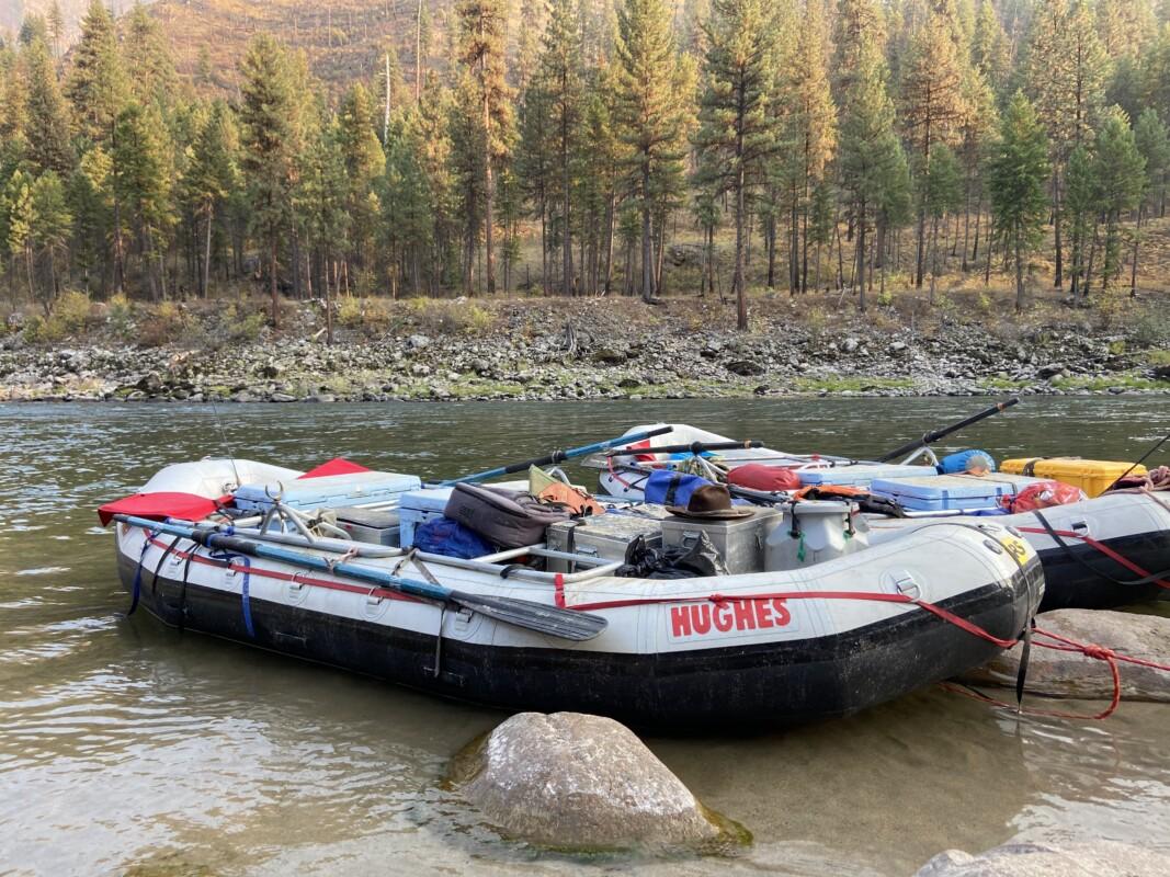 hughes boats at camp main salmon